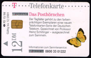 Telefoonkaart Duitsland 1998 Deutsche Telekom Das Posthörnchen PD 13 98