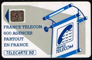 Telefoonkaart Frankrijk 1990 France Telecom Agences partout en France