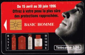 Telefoonkaart Frankrijk 1996 France Telecom Basic Homme 04/96