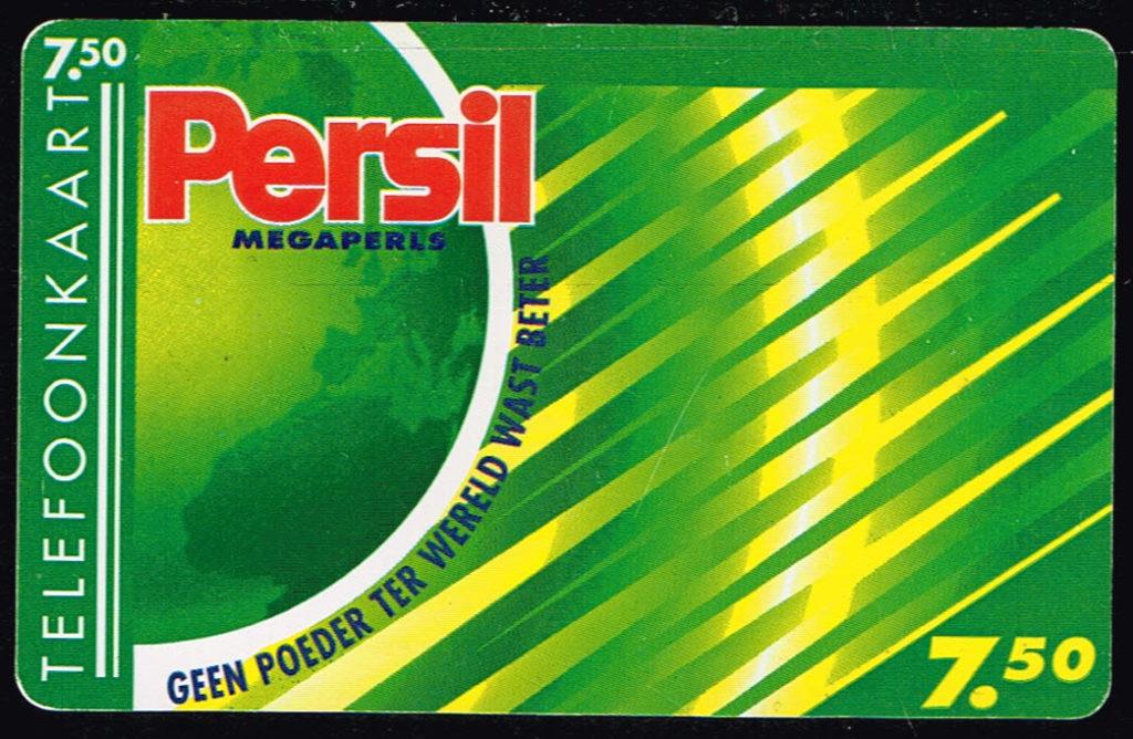Telefoonkaart Nederland 1995 PTT Telecom Standaardkaart Persil Megaperls E803 achterkant