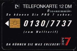 Telefoonkaart Duitsland 1992 Deutsche Telekom Pro 7 - Nervenkitzel