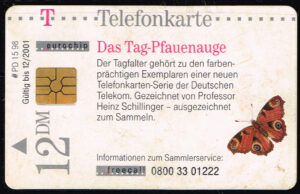 Telefoonkaart Duitsland 1998 Deutsche Telekom Das Tag-Pfauenauge PD 15 98