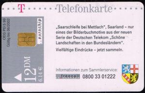 Telefoonkaart Duitsland 1999 Deutsche Telekom Saarland - Saarschleife bei Mettlach PD 5 99