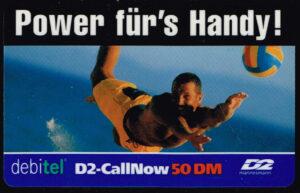 Telefoonkaart Duitsland 2000 D2-Callnow Power Für's Handy