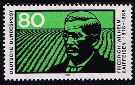 Duitsland (BRD) 1988 Todestag von Friedrich Wilhelm Raiffeisen Michel 1358