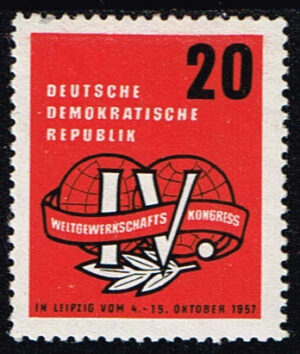Duitsland (DDR) 1957 Weltgewerkschaftskongreß Michel 595