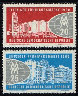 Duitsland (DDR) 1960 Leipziger Frühjahrsmesse Michel 750-751