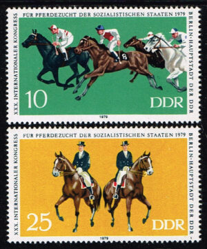 Duitsland (DDR) 1979 Internationaler Kongreß für Pferdezucht Michel 2449-2450