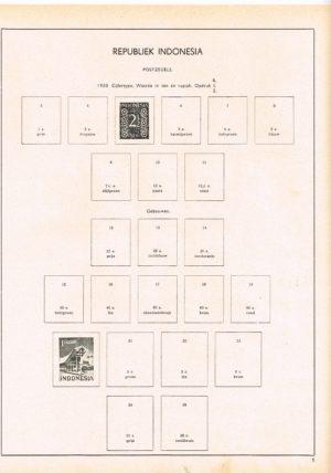 Indonesië 1950-1968 Albumbladen voor Erka Album K II