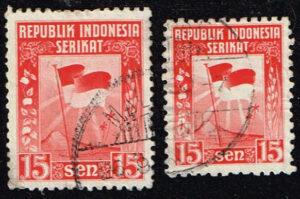 Indonesië 1950 Onafhankelijk Independence gestempeld Michel 63-64