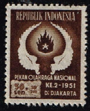 Indonesië 1951 2e Nationale Sportweek Jakarta Michel 92