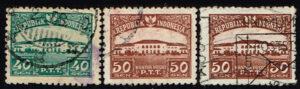 Indonesië 1953 Frankeerzegels Postkantoren Michel 103-105