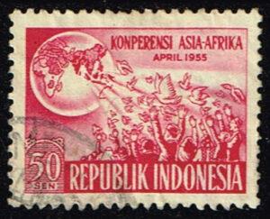 Indonesië 1955 1e Afro Aziatische Conferentie gestempeld Michel 136