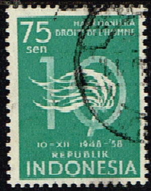 Indonesië 1958 Human rights gestempeld Michel 235
