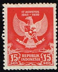 Indonesie 1950 Jubileumzegel Republic 15 sen Michel 65