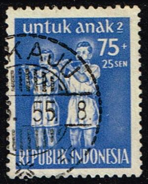 Indonesie 1955 Kinderzegel gestempeld Michel 132