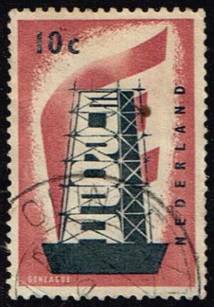 Nederland 1956 Europazegels gestempeld NVPH 681