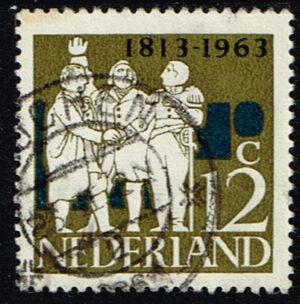 Nederland 1963 Onafhankelijkheid 12 ct gestempeld NVPH 809