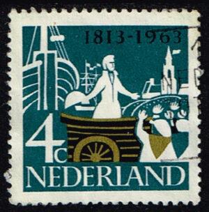 Nederland 1963 Onafhankelijkheid 4 ct gestempeld NVPH 807