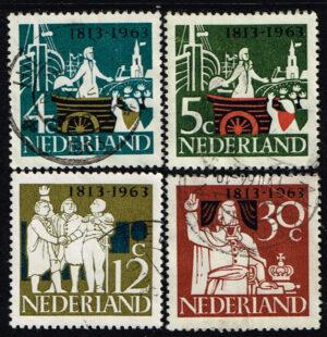 Nederland 1963 Onafhankelijkheid gestempeld NVPH 807-810