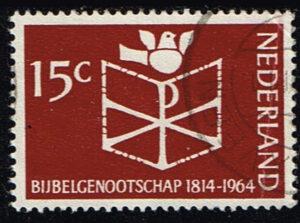 Nederland 1964 150 jaar Bijbelgenootschap gestempeld NVPH 820