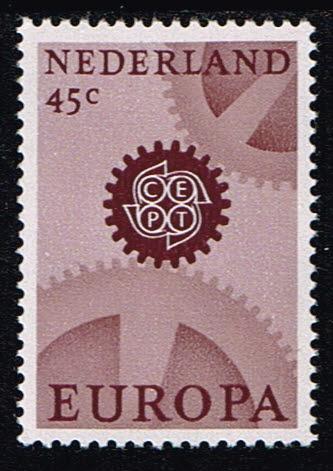 Nederland 1967 Europa CEPT gewoon papier NVPH 883