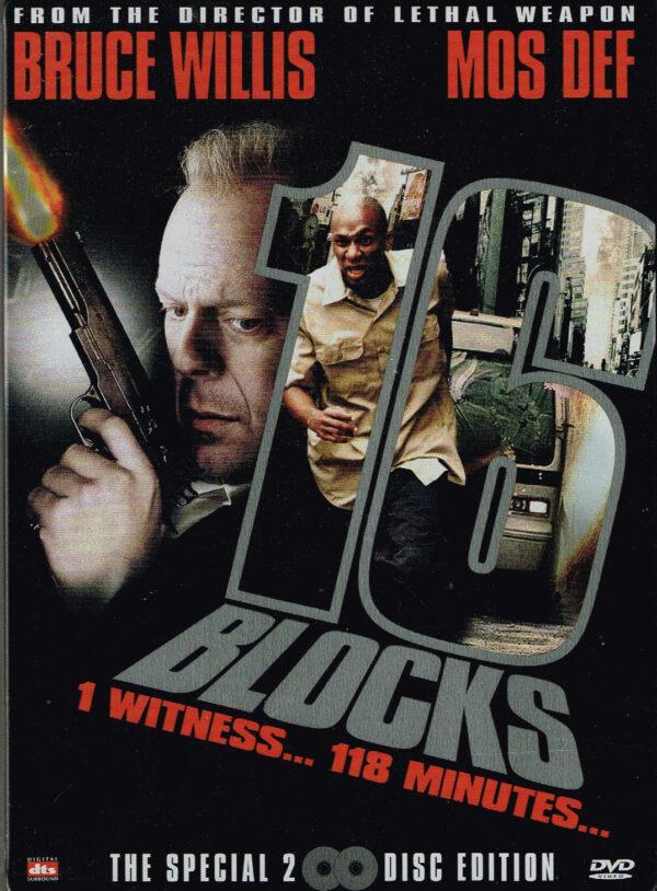 16 Blocks 2DVD Steelbook - Bruce Willis EAN 8715664037522