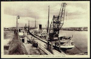 Ansichtkaart Carte postale Bordeaux Vue generale des nouveaux Quais