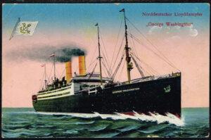 Ansichtskarte Deutschand Norddeutscher Lloyddampfer George Washington