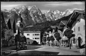 Ansichtskarte Kuchl Hallein mit Hohen Göll nr 2201