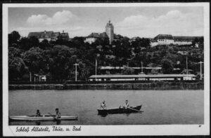 Ansichtskarte Postkarte Allstedt in Sachsen Anhalt Schloss Sommerbad