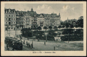 Ansichtskarte Postkarte Köln am Rhein 1920 Deutscher Ring Tram
