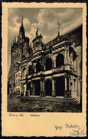 Ansichtskarte Postkarte Köln am Rhein 1934 Rathaus