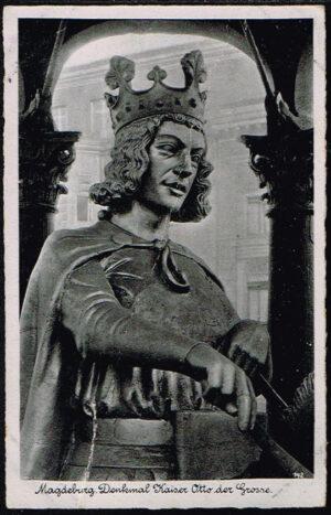 Ansichtskarten Magdeburg in Sachsen Anhalt Denkmal Otto der Große