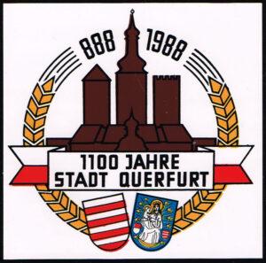 Aufkleber Deutschland 1100 Jahre Stadt Querfurt 888-1999