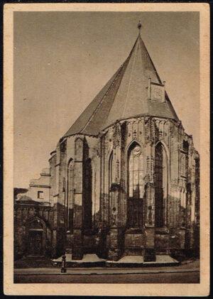 Postkarte Ansichtskarte Halle Saale Partie an der St. Moritzkirche