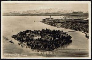 Postkarte Ansichtskarte Insel Mainau 1931 Panorama Insel Mainau im Bodensee