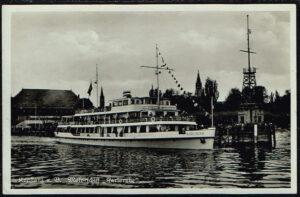Postkarte Ansichtskarte Konstanz am Bodensee Motorschiff Karlsruhe