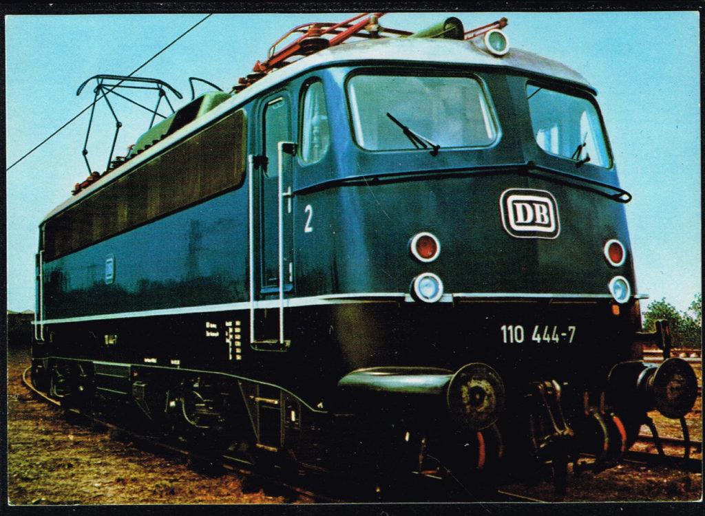 Postkarte Deutschland E-Lok Baureihe 110 444-7 Schnellzuglokomotive.