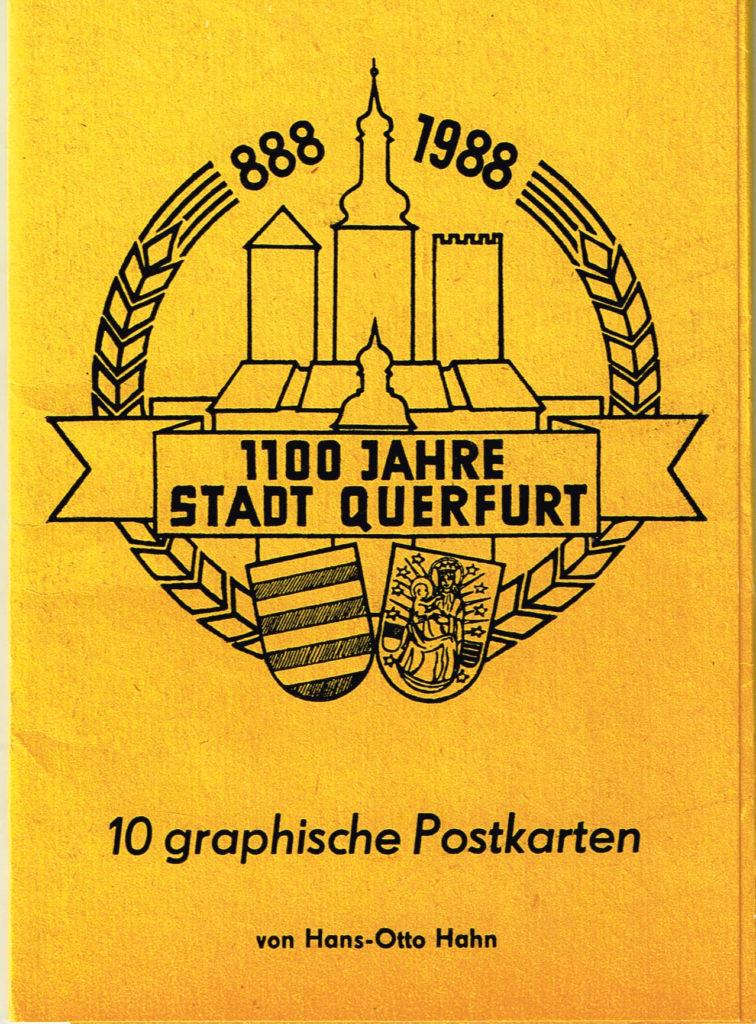 Postkarte Deutschland Querfurt 10 graphische Postkarten 1100 Jahre Querfurt