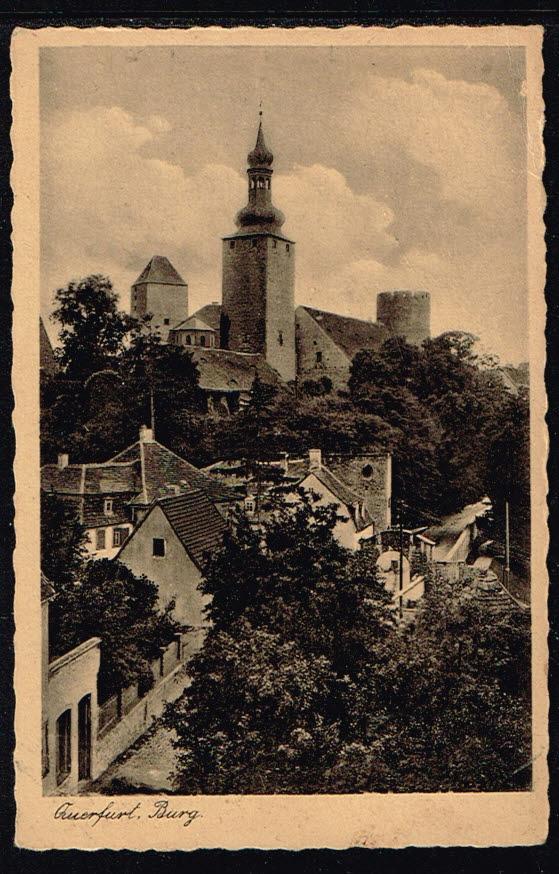 Postkarte Deutschland Querfurt 1951 Burg Querfurt