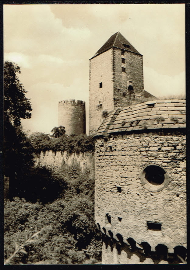 Postkarte Deutschland Querfurt 1972 Am Burggraben