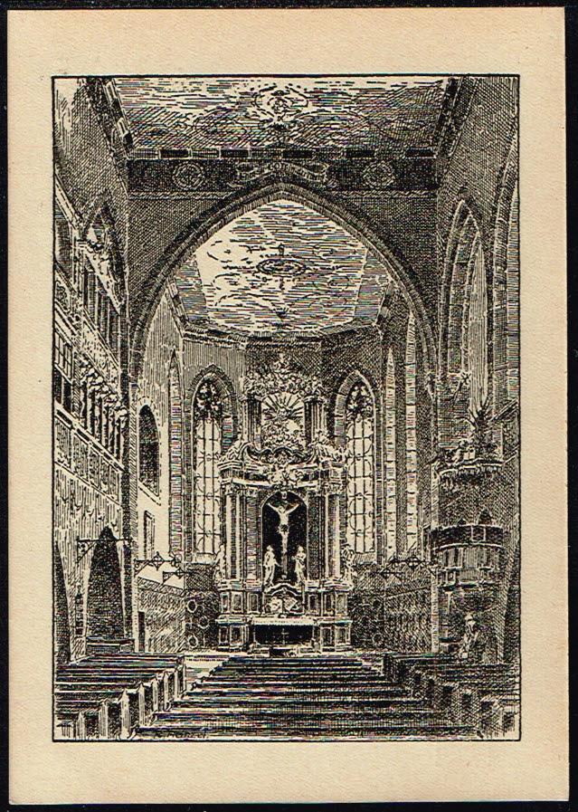 Postkarte Deutschland Querfurt St Lamperti-Kirche in Querfurt