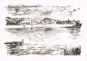 Theo Dietzel Originele Lithographie plaats onbekend