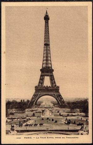 Ansichtkaart Carte postale Paris 1939 La Tour Eifel Prise du Trocadero