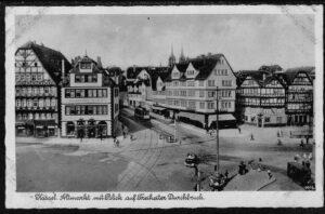 Ansichtskarte Postkarte Kassel 1940 Altmarkt mit Blick auf Freiheiter Durchbruch