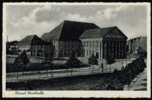 Ansichtskarte Postkarte Kassel 1940 Stadthalle 9502