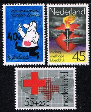 Nederland 1978 Rode Kruis NVPH 1161-1163