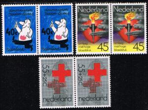Nederland 1978 Rode Kruis blokjes van twee zegels NVPH 1161-1163