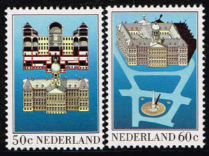 Nederland 1982 Paleis op de Dam NVPH 1273-1274